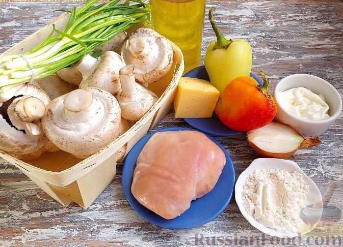 рецепт приготовления фаршированных грибов шампиньонов