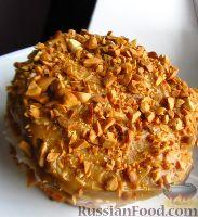 """Фото к рецепту: """"Шифоновый"""" торт с арахисом и зефиром"""