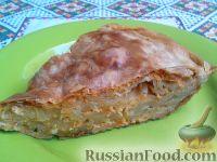 Фото к рецепту: Баница — слоеный пирог с творогом