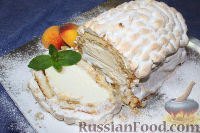 """Фото к рецепту: Торт """"Аляска"""", с мороженым внутри"""
