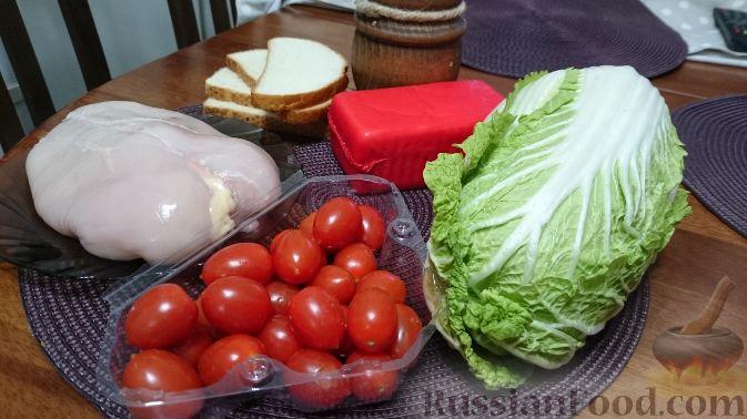 ингредиенты и рецепт салата цезарь