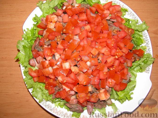 салат теплый с куриной печенью рецепт с фото