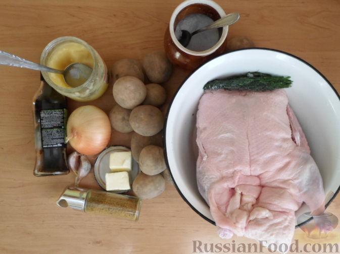 Утка с картофелем запеченная в духовке - Рецепты с фото