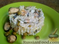 Фото к рецепту: Салат с мидиями