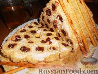 """Фото к рецепту: Торт """"Монастырская изба"""" из блинов"""