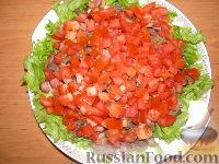 Фото к рецепту: Теплый салат с куриной печенью и беконом