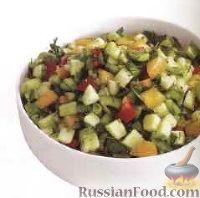 Фото к рецепту: Овощной салат с зеленью