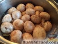 Фото приготовления рецепта: Шампиньоны маринованные - шаг №4