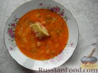 Фото к рецепту: Рассольник с консервированным лососем