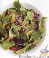 Фото к рецепту: Свекольный салат с рукколой и апельсинами