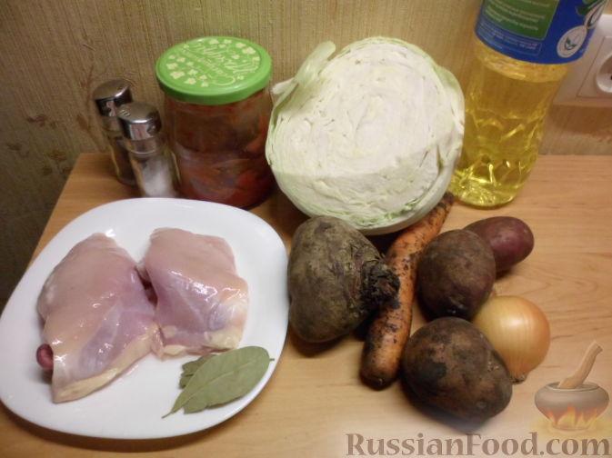 Борщ на курином бульоне — рецепт с фото пошагово. Как ...