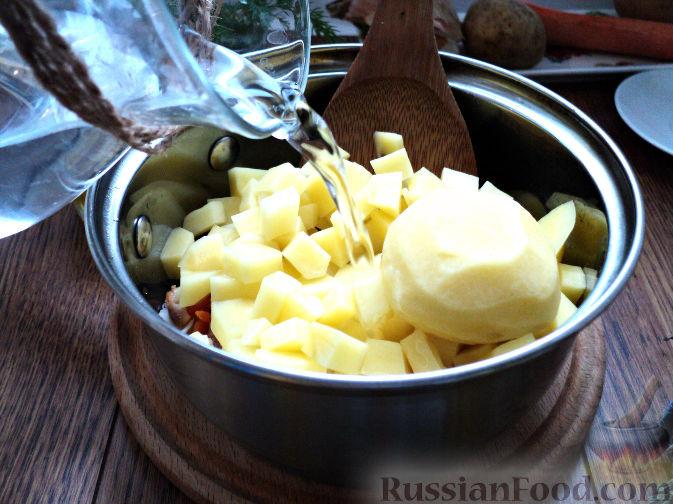 Фото приготовления рецепта: Картофельный суп-пюре - шаг №7