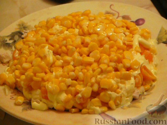 Фото приготовления рецепта: Салат «Полянка» - шаг №6