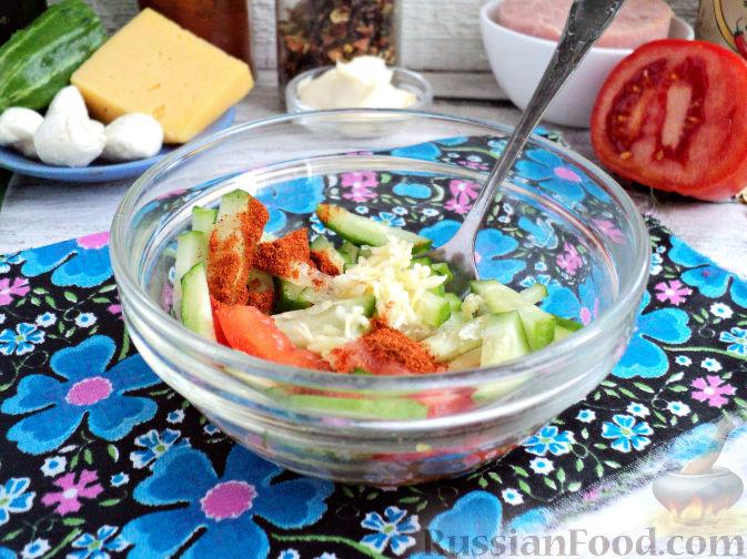 Фото приготовления рецепта: Cвинина, тушенная со свёклой, солёными огурцами и помидорами - шаг №7