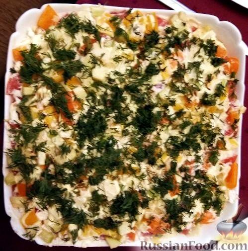 Фото к рецепту: Экзотический салат