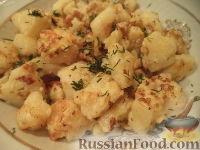 Фото к рецепту: Жареная цветная капуста в кляре