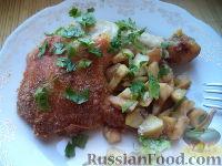 Фото к рецепту: Курица, фаршированная яблоками