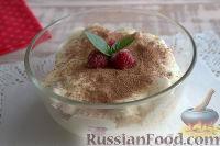 """Фото к рецепту: Десерт """"а-ля тирамису"""" с малиной"""