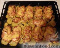 Фото к рецепту: Мясо по-французски с запеченным картофелем