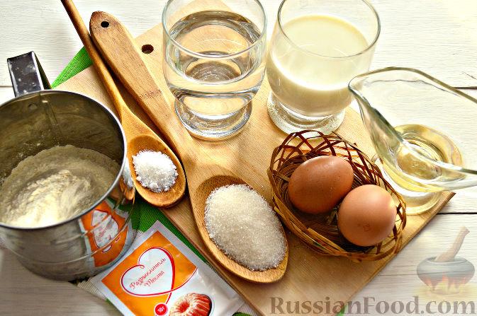 Рецепт тесто для блинов на кипятке