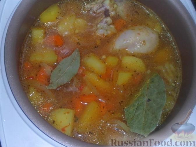 рецепт приготовления картошки тушеной с курицей