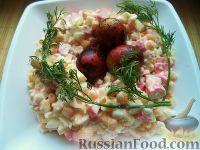 Фото к рецепту: Настоящий салат из крабовых палочек