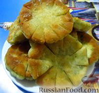 Фото к рецепту: Лепешки с брынзой и укропом