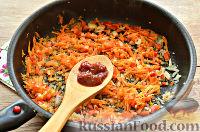 Фото приготовления рецепта: Макароны с отварной говядиной и овощами - шаг №3