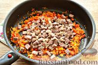 Фото приготовления рецепта: Макароны с отварной говядиной и овощами - шаг №5