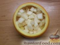 Фото приготовления рецепта: Фруктовый салат в апельсине - шаг №9