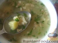Фото к рецепту: Суп с галушками