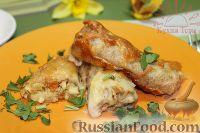 Фото к рецепту: Блинчики с курицей карри в сливочном соусе