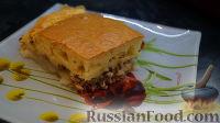 Фото к рецепту: Заливной пирог с консервированной сайрой