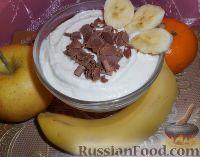 Фото к рецепту: Крем творожный с бананами