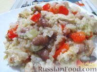 Фото к рецепту: Рис с курицей, фасолью и перцем