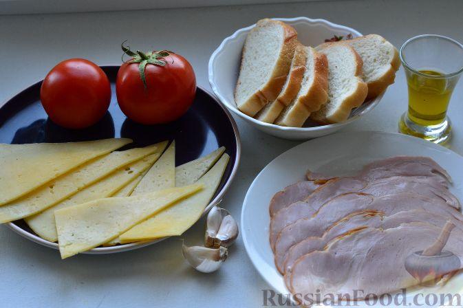 рецепт салата с сухариками и ветчиной с помидорами
