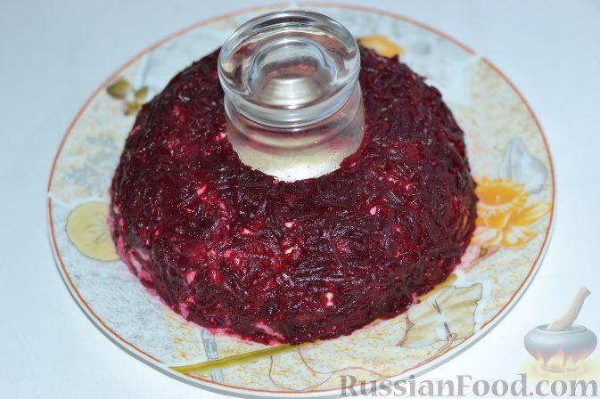 рецепт салата гранатовый браслет с курицей фото рецепт