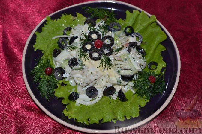 кальмар перец огурец салат рецепт