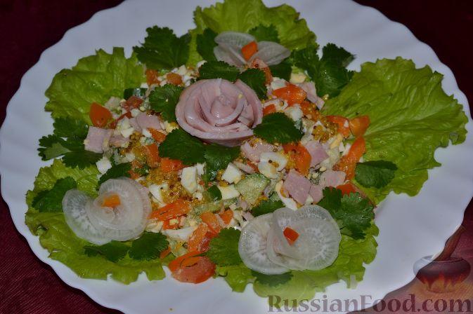 Праздничные салаты с ветчины фото и рецепты
