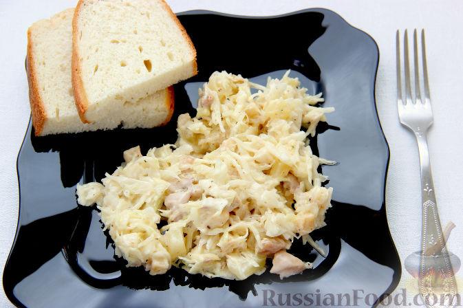 Фото приготовления рецепта: Слоёный салат с говядиной, картофелем, морковью и кукурузой - шаг №6