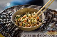 Фото к рецепту: Жареный рис по-янчжоуски