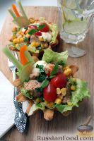 Фото к рецепту: Тако с курицей, овощами, фасолью