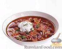 Фото к рецепту: Красный борщ без картошки