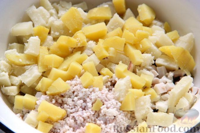 Фото приготовления рецепта: Насыпной яблочный пирог - шаг №14
