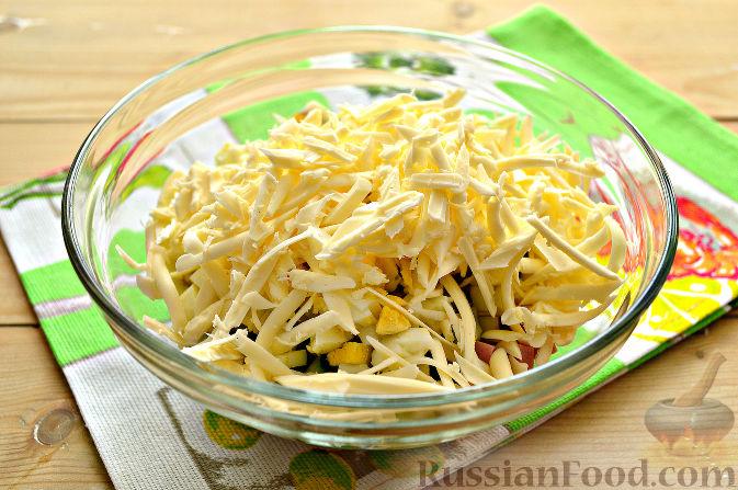 салат нежность рецепт с колбасой с фото