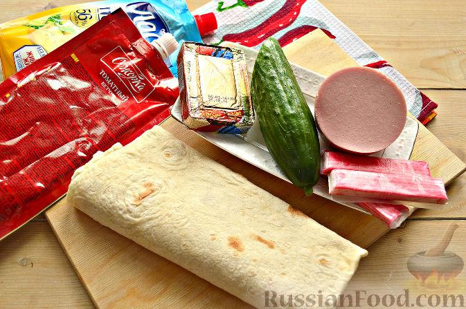 Как сделать домашнюю шаурму с колбасой рецепт 938