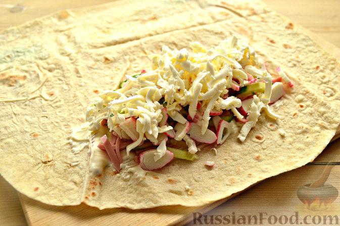 Как сделать домашнюю шаурму с колбасой рецепт 861