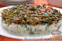Фото к рецепту: Салат с кальмарами и морской капустой