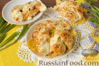 Фото к рецепту: Булочки с черемшой и сыром