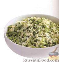 Фото к рецепту: Паста с бобами, петрушкой, луком и сыром